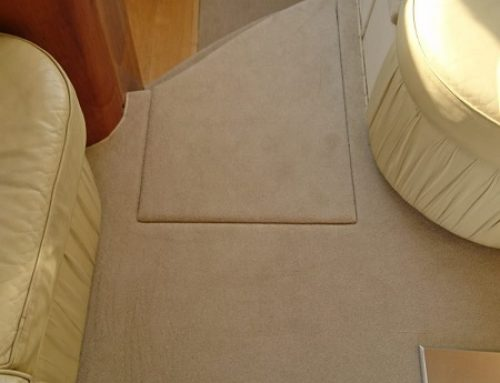 Fully Fitted Marine Boat Carpet on a Princess Motor Boat